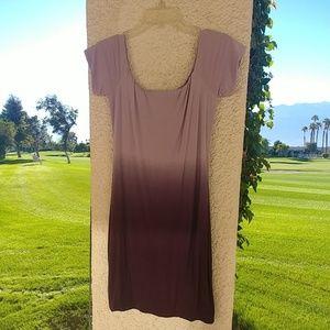 Off the shoulder dip dyed dress